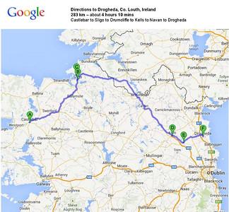 Day 21 - Castlebar to Drogheda