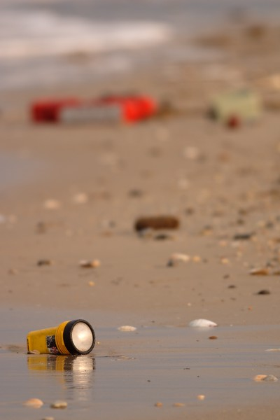 Items washed up on the beach from the loss of a boat, Hampton, VA. © 2006 Kenneth R. Sheide