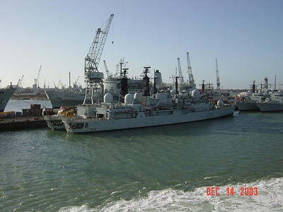 ENGLAND - LEAVING PORTSMOUTH HARBOUR