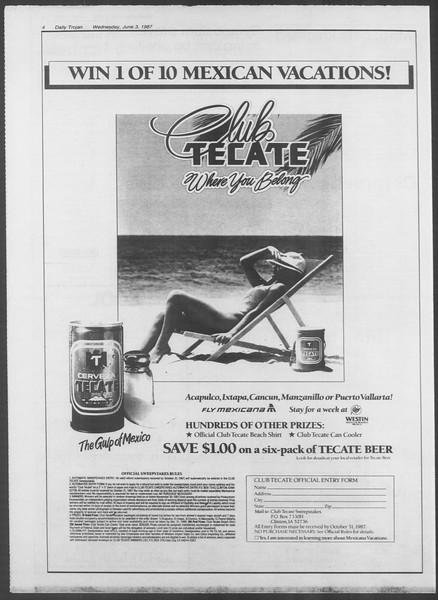 Summer Trojan, Vol. 104, No. 3, June 03, 1987