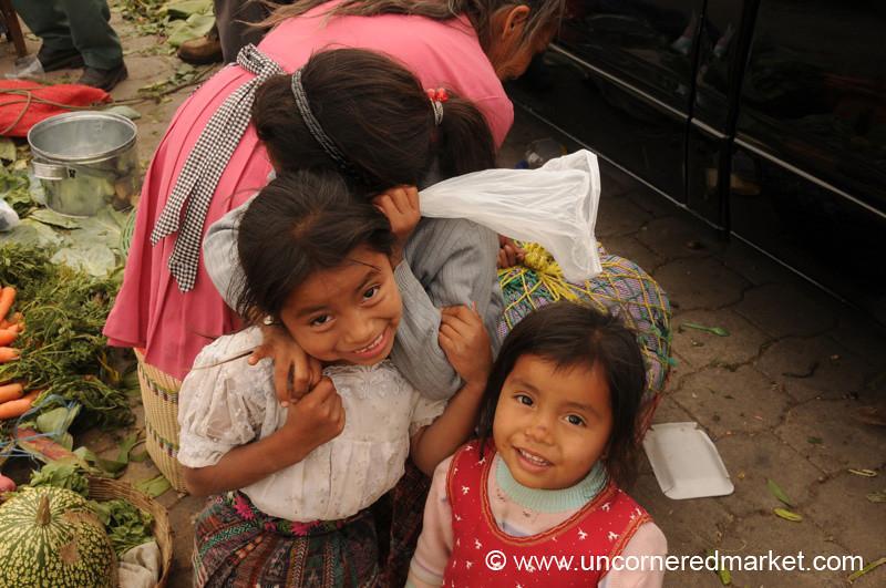 Playful and Shy Guatemalan Girls - Antigua, Guatemala