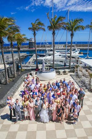 Amanda and Philip's wedding photography Amura Lanzarote