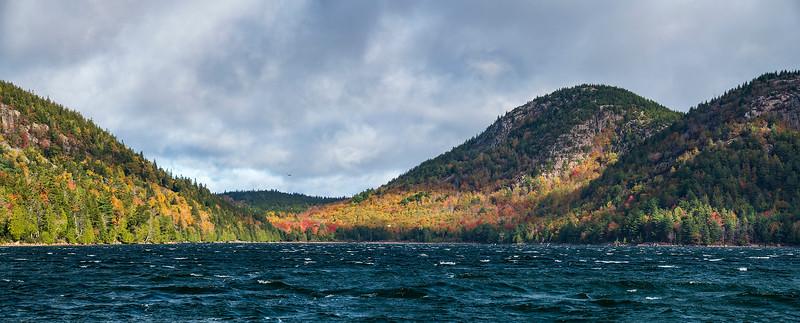Choppy waves on a windy, autumn day at Jordan Pond - Acadia National Park, Maine