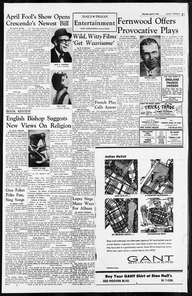 Daily Trojan, Vol. 55, No. 94, April 09, 1964