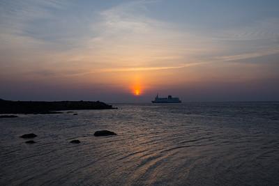 Solnedgang i Varberg 13.4.18