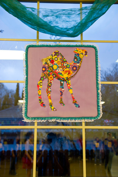 Camel window decoration at March Madness 2012.