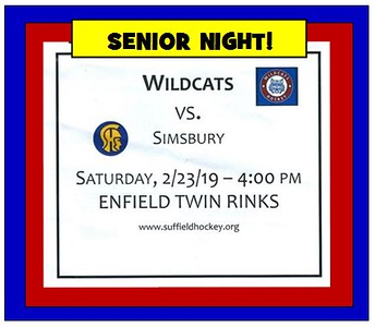 2019_02_23 Wildcats vs Simsbury SENIOR NIGHT