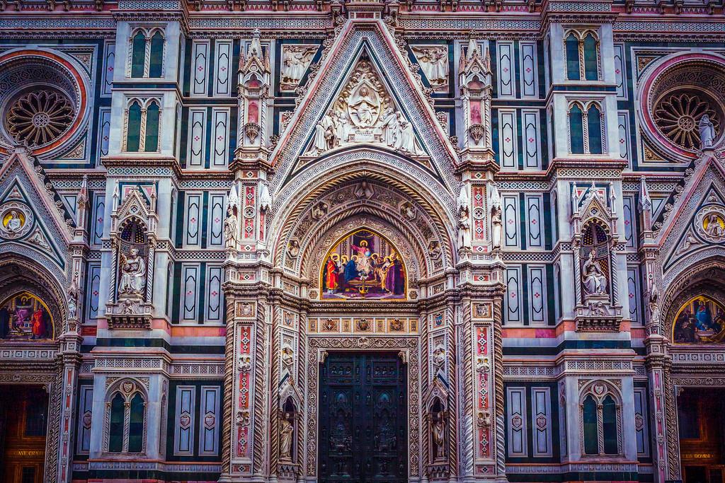 意大利佛罗伦斯主教堂,围观欣赏
