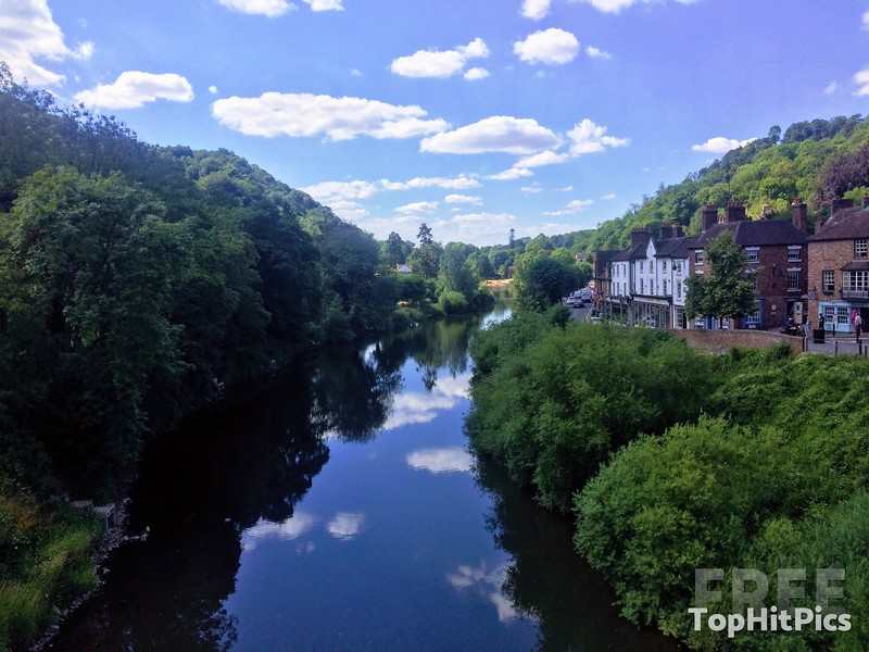 The River Severn in Ironbridge, Shropshire, England