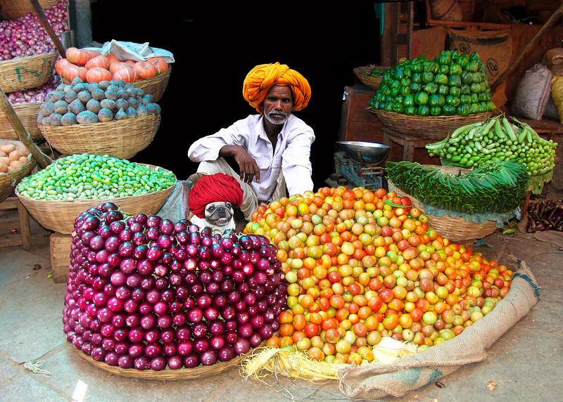 VEGETABLE MERCHANTS - JAIPUR, INDIA