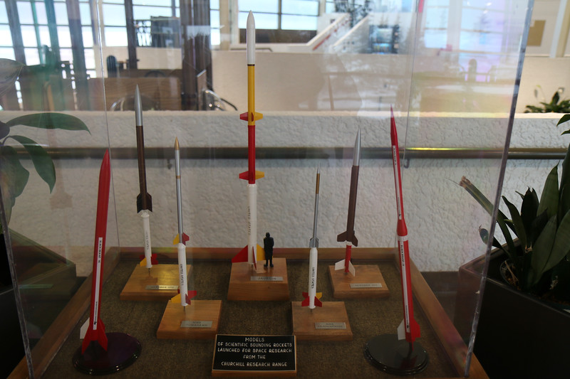 Rocket display in the community center