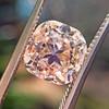 4.03ct Light Fancy Brown Antique Cushion Cut Diamond Halo Ring GIA LFB, SI1 64