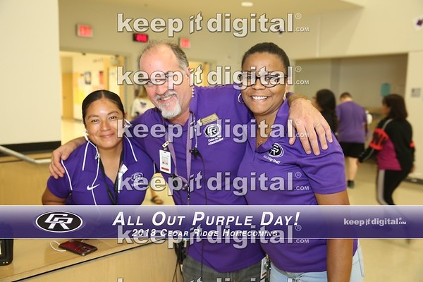 CR Homecoming 2018 - All out Purple Day!