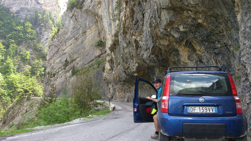Gola delle Fascette near Upega. Must have taken a LOT of work to carve the road into the gorge.