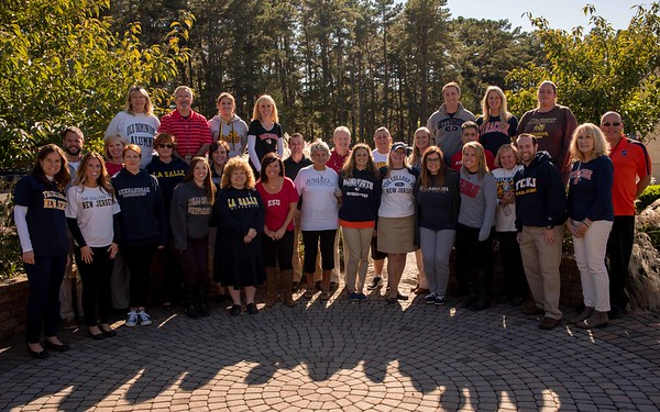 teacher college group shot