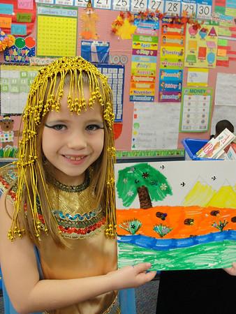 Miranda's 1st Grade Egypt Day - 2011