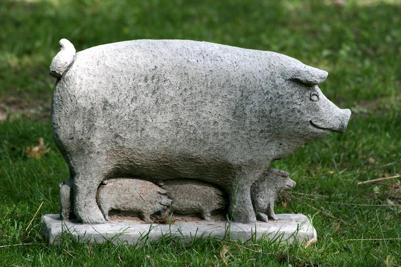 "Cute Statue at the Alpacas' ""Home"""