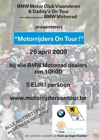 MOTORRIJDERS ON TOUR VOOR KOM OP TEGENKANKER