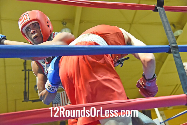 Bout 10 Antwan Jones, Blue Gloves, Bullpen Boxing(Toledo) -vs- Keith Fairchild, Red Gloves, King's Gym, 178 lbs, Novice, 2 Min. Rds.