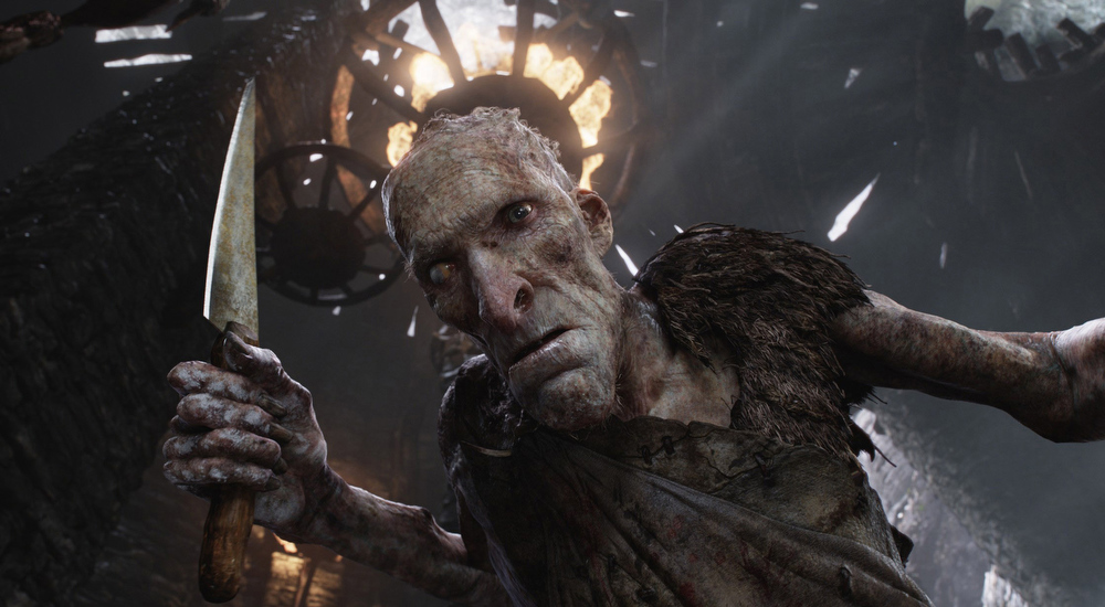 """Description of . This film image released by Warner Bros. Pictures shows the character Cook, voiced by Philip Philmar, in a scene from \""""Jack the Giant Slayer.\"""" (AP Photo/Warner Bros. Pictures)"""