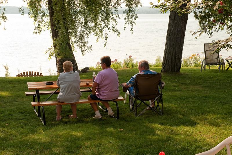090 Michigan August 2013 - Cabin Back Yard (Deb,Pam,Mike).jpg