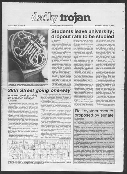 Daily Trojan, Vol. 95, No. 8, January 19, 1984