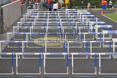 High Hurdle Finals - 2013 MHSAA T&F D1 Regional at Brandon HS