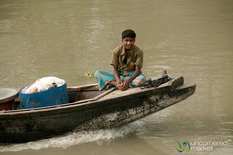 Young Man on a Boat - Bangladesh