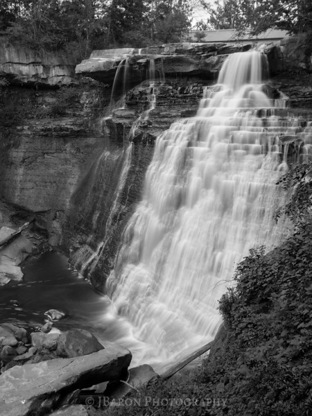 Brandywine Falls - Monochrome