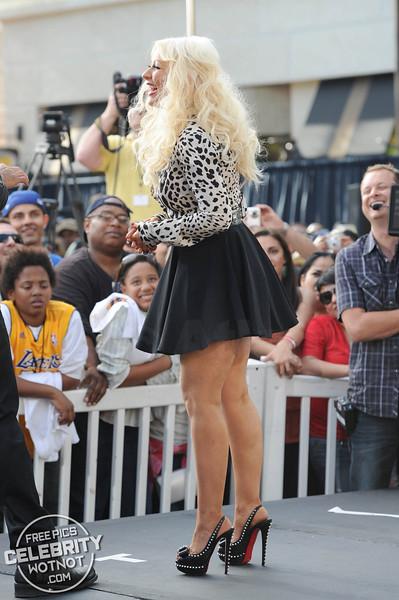 Christina Aguilera Stylish In Leopard Print With Mathew Rutler in LA