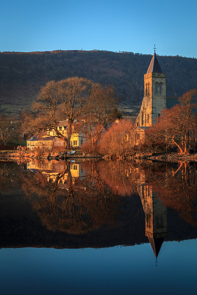 Lake Hotel and Church, Lake of Menteith - 8818