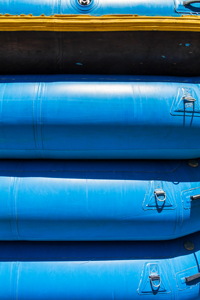 Stack of inflatable boats - USA - Colorado