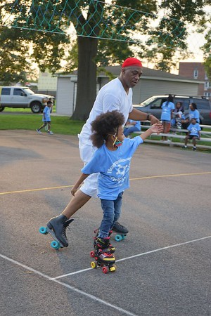 Hempstead PAL and Uniondale PAL community skating event 7/22/21
