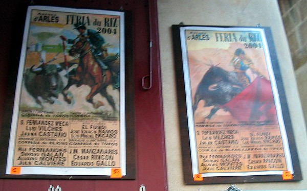 French Bull Fight Posters