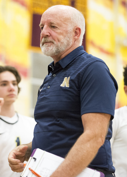 06/04/19  Wesley Bunnell   Staff  Newington volleyball defeated Wethersfield 3-0 in a semifinal game at New Britain High School on Tuesday night.  Head coach Curt Burns.