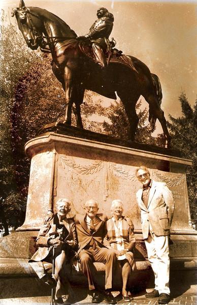 Grace William Lydia and Paul Curran at General Drapers statue.jpg