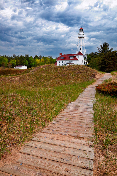 Passing Light II - Rawley Point Lighthouse (Point Beach State Forest - Two Rivers, WI)
