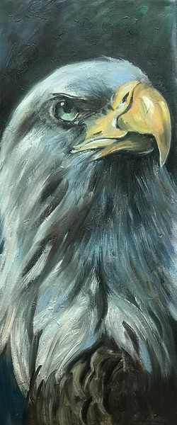 """courage 1"" (oil on canvas) by Anna Aliyeva"
