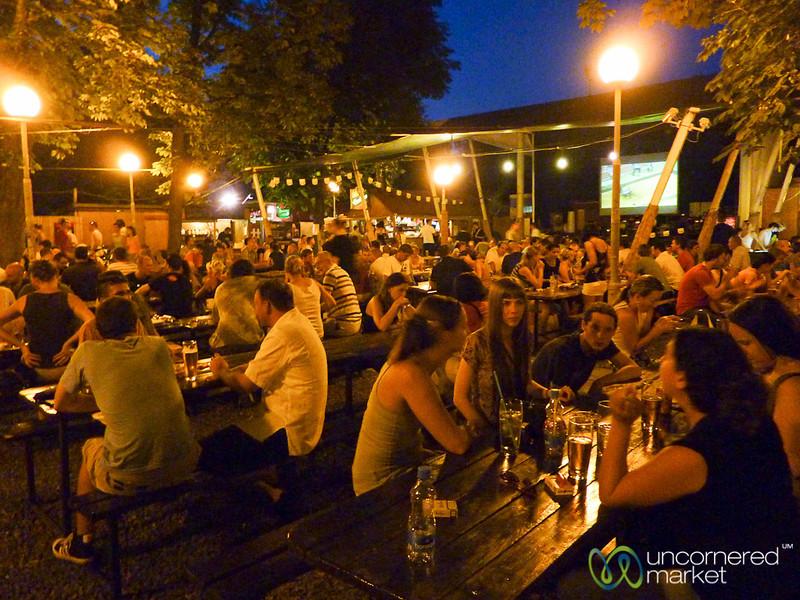 Summer Evening at the Beer Garden - Prague, Czech Republic