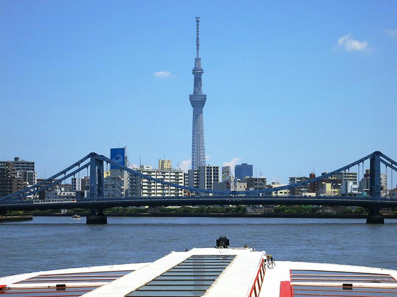 KiyosuBashi Bridge and Tokyo Skytree, 2,080' (634 m)
