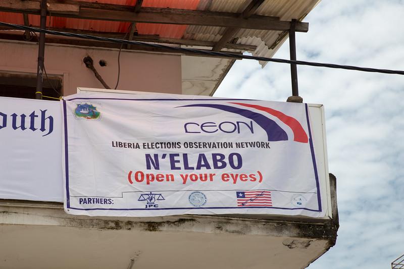 Monrovia, Liberia October 10, 2017 - LEON signage.