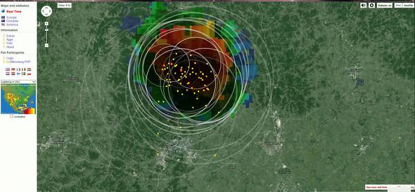 Blitzortung Screen Videos - Lightning