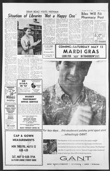 Daily Trojan, Vol. 58, No. 121, May 11, 1967