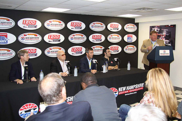 IndyCar Press Conference and Exhibition Laps at NHMS 6.27.2010