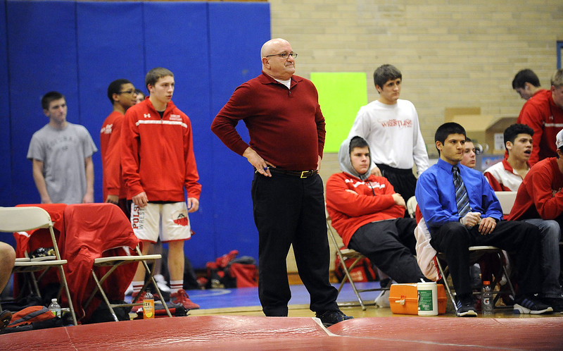 2/4/2014 Mike Orazzi | Staff Berlin wrestling coach Jim Day.