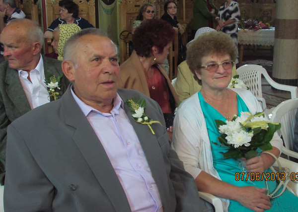 Gold wedding anniversary - Gura Humorului, July 6, 2013