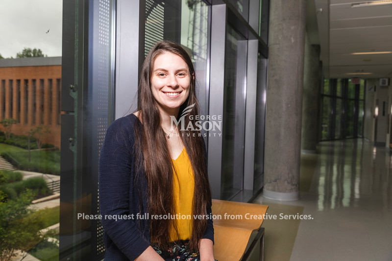 George Mason University PhD. candidates in Environmental Science and Policy Sarah Farinelli won Fulbright Scholarship. Photo by Lathan Goumas/Strategic Communications