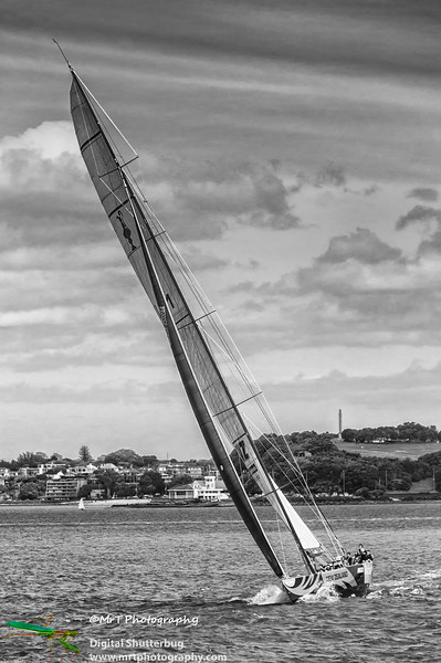 NZL 41 sailing on the Waitemata Harbour