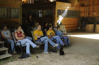 25423 Classroom horse training on farm