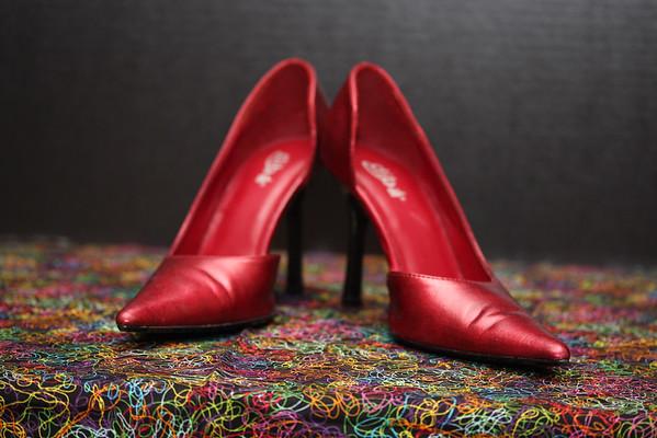 Riba D'Orsay High Heel Pumps (Red)